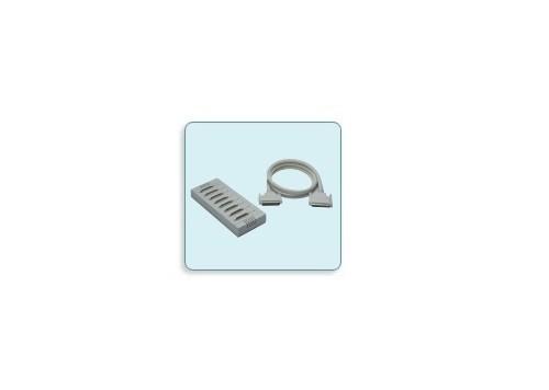 OPT 8B - Caixa De Distribuição 8 Portas Rs-232 Db25 Macho, Com Cabo Db62M ParaDb62F De 150Cm Incluso