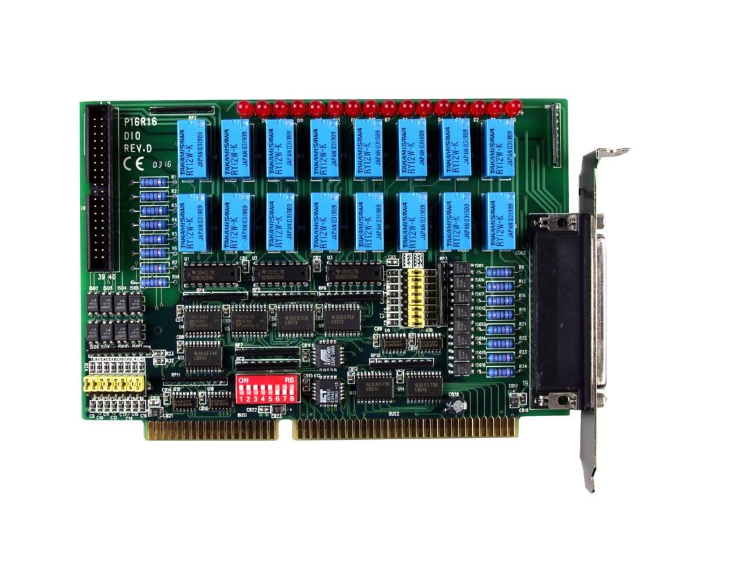 P16R16DIO - Cartão Isa Digital Isoladas, 16 Entradas E 16 Saídas A Relé
