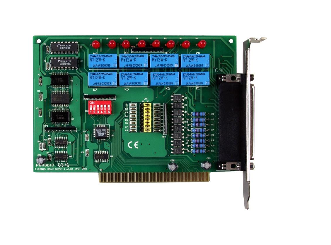 P8R8DIO - Cartão Isa Digital Isoladas, 8 Entradas E 8 Saídas A Relé