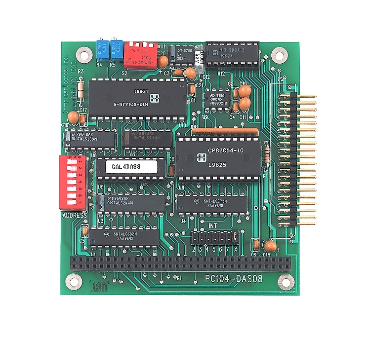 PC104-DO48H -  Cartão Pc104 Digital, 48 Canais Ttl De Saída Em Alta Corrente