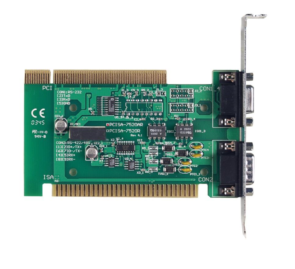 PCISA-7520AR - Conversor Pci/Isa Rs-232 Para Rs-422/485,Isolação 3000Vdc Na Rs-422/485