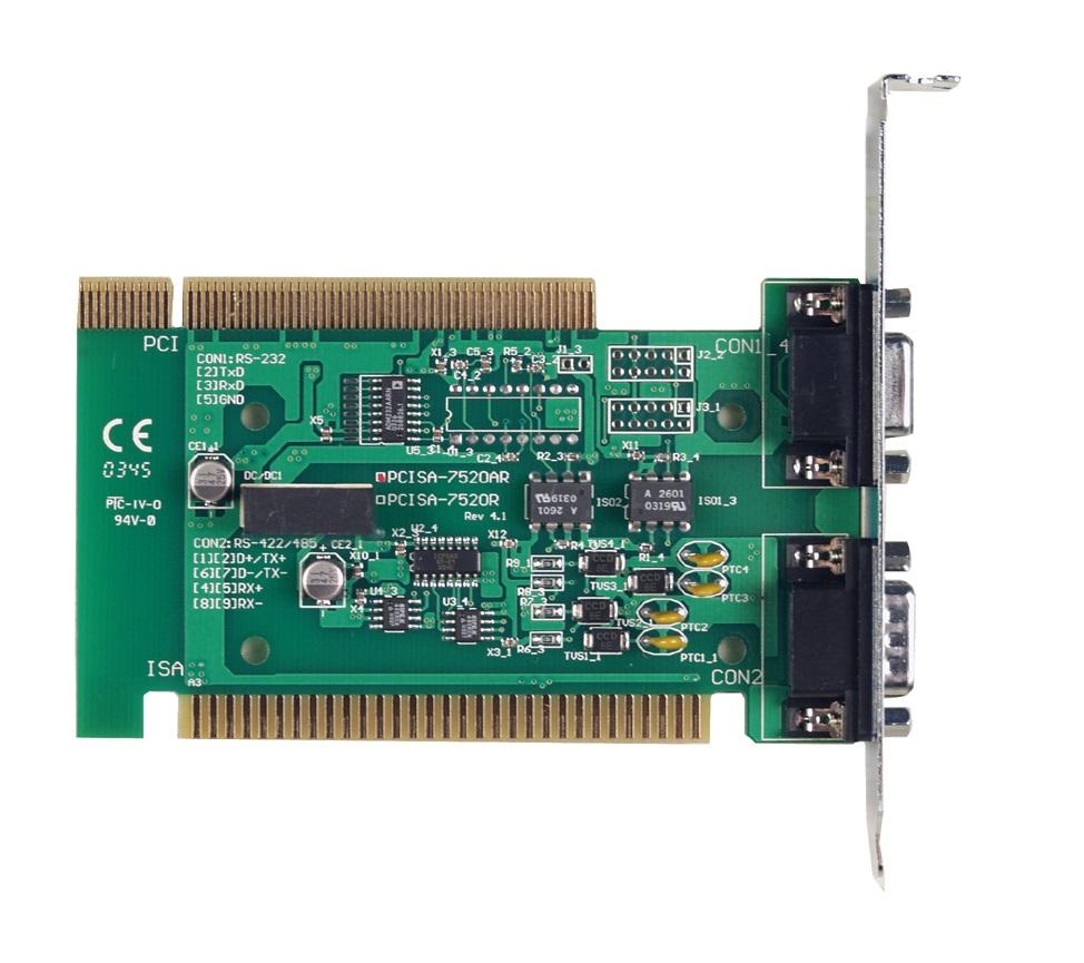 PCISA-7520R - Conversor Pci/Isa Rs-232 Para Rs-485,Isolação 3000Vdc Na Rs-485