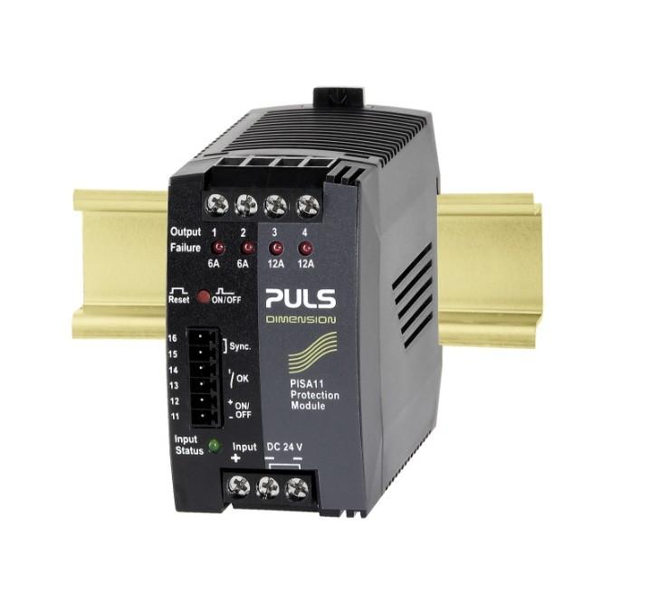 PISA11.206212 - Módulo De Proteção, 24Vdc Máximo 20A, Com Quatro Canais 2X 6A, 2X 12A, Entrada 18~30Vdc
