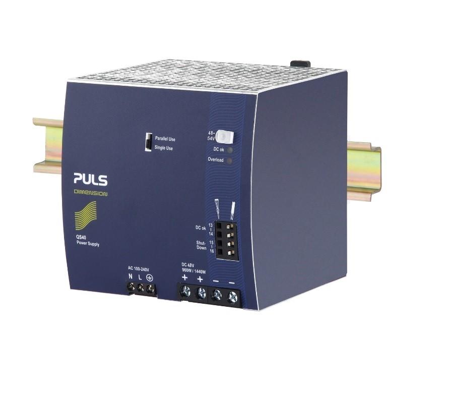 QS40.481 - Fonte De Alimentação 960W, Entrada 100~240Vac, Saída 48Vdc 20A, Fpc, Op Paralelo