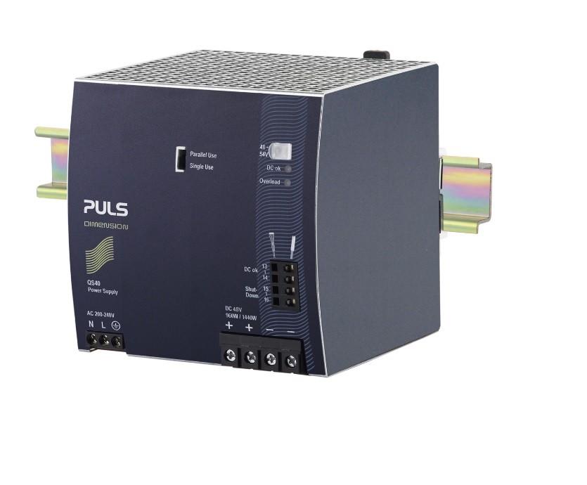 QS40.484 - Fonte De Alimentação 960W, Entrada 200~240Vac, Saída 48Vdc 20A, Fpc, Op Paralelo