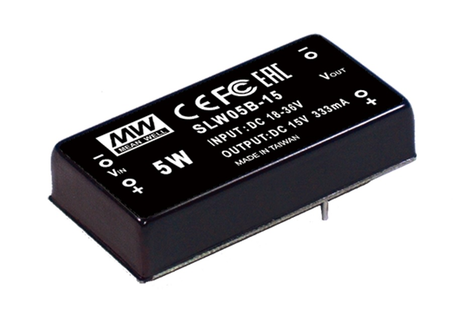 SLW05 - Conversor DC/DC Encapsulado 5 Watts, Saída Única Regulada e Isolada