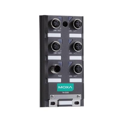 TN-5305-T - Switch Ethernet Não Gerenciável Ip67, Com 5X 10/100Baset(X) ConectorM12, En50155