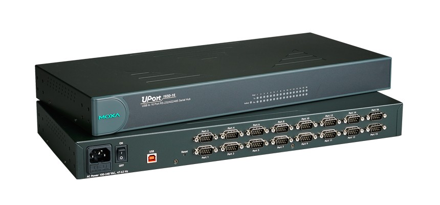 UPORT 1650-16 - Conversor Usb Para Serial, 16 Portas Rs-232/422/485, Conectores Db9Macho