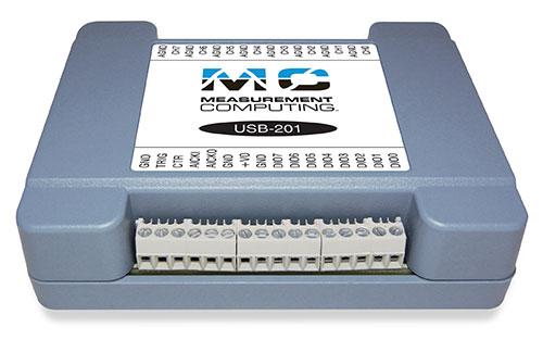 USB-201 - Módulo USB de Aquisição de Dados Multifuncional - Tensão