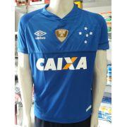 9a64c37b2f84b Camisa Cruzeiro 1 2018 Nº 10 C  Patch Copa do Brasil 2017 Primeira Linha