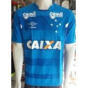 Camisa Cruzeiro Treino 2017 com patrocinador Primeira Linha