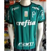 Camisa Palmeiras 1 2017/2018 S/Nº com Patch Brasileirão 2016 Autenthic
