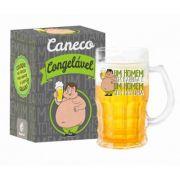 Caneca Gel Cerveja 450ml - Um Homem Sem Barriga