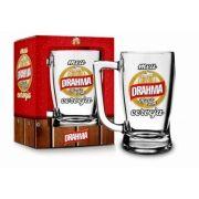 Caneca Vidro Taberna 340ml Sátiras Cerveja - Drahma