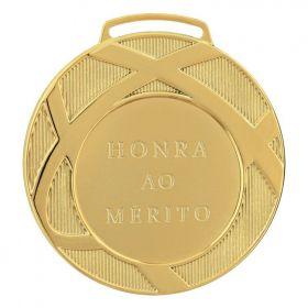Kit C/10 Medalhas Ind. Vitória 80001 80mm com fita Gorgurão