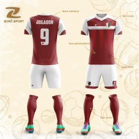 Kit com 18 Uniformes (Camisa, Calção, Meião) Personalizado Zoro Sport