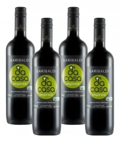 Kit com 4 Vinhos Garibaldi Da Casa Tinto Orgânico 750 mL