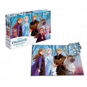 Quebra-Cabeças 100 Peças Frozen Disney Xalingo