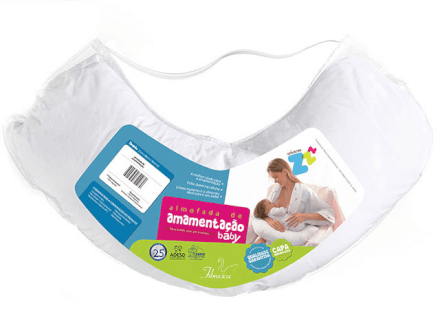Almofada de Amamentação Basic Branco - 21X86X38