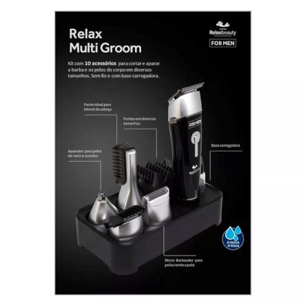 Barbeador Elétrico Relax Multi Groom Relaxmedic - RB-AM0249A