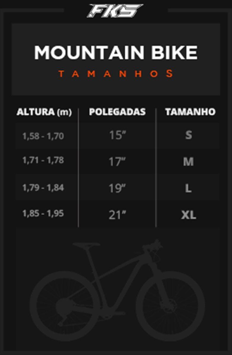 Bicicleta Mountain Bike Aro 29 FKS Fast Shimano 24 marchas