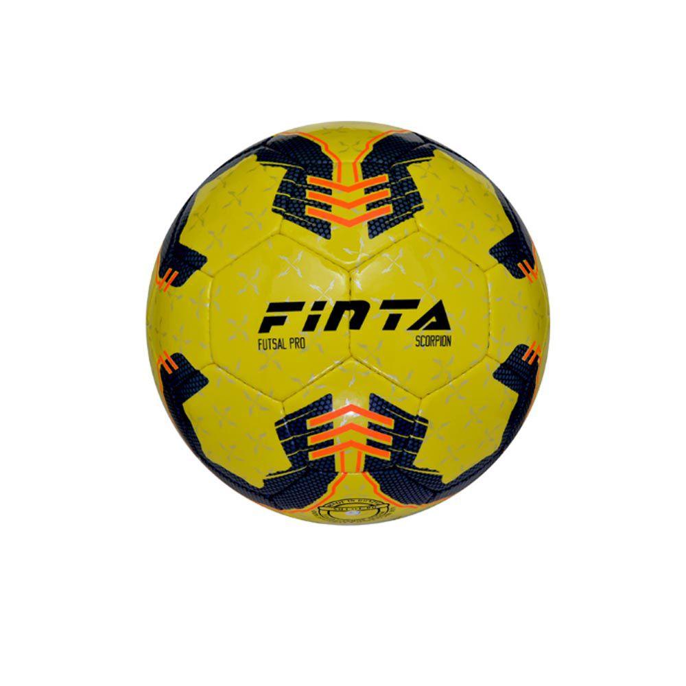 Bola Futsal Finta Scorpion Oficial 32 gomos Costurada Pvc