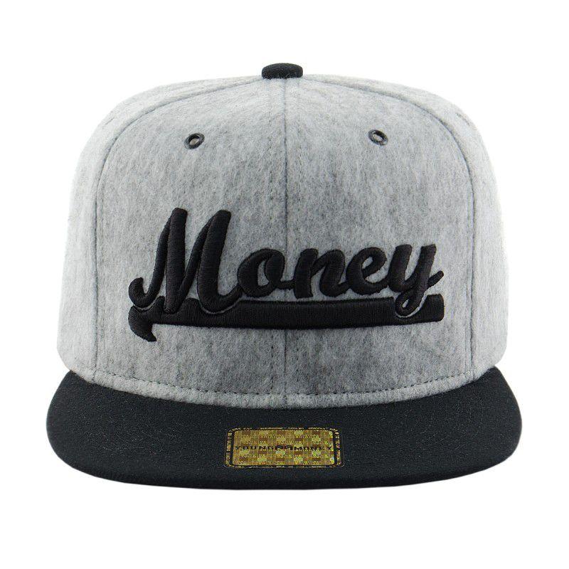 Boné Young Money Aba Reta Snap Money