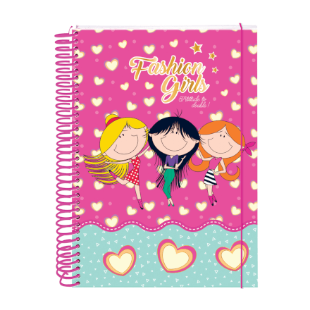 Caderno Fashion 10 Matérias 200 Folhas Dac - 2351RS
