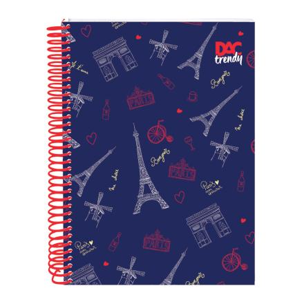 Caderno Paris 15 Matérias 300 Folhas Dac - 2380