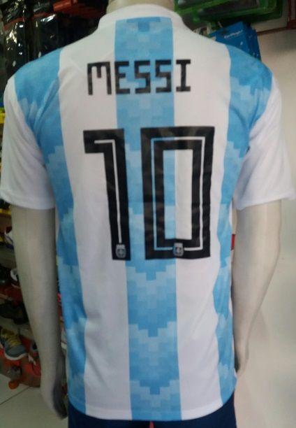 Camisa Argentina 2018 Nº 10 Messi Primeira Linha