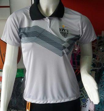 Camisa Atlético Mineiro Polo Feminina Primeira Linha