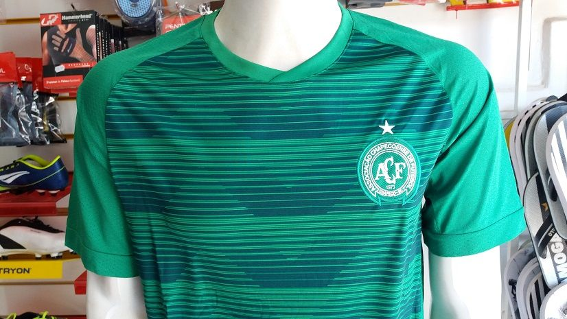 Camisa Chapecoense 1 2017/2018 S/Nº Authentic