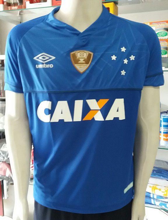 e73e7edf7587d Camisa Cruzeiro 1 2018 Nº 10 C  Patch Copa do Brasil 2017 Primeira Linha