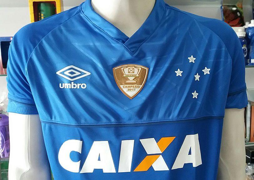 Camisa Cruzeiro 1 2018 Nº 10 C/ Patch Copa do Brasil 2017 Primeira Linha