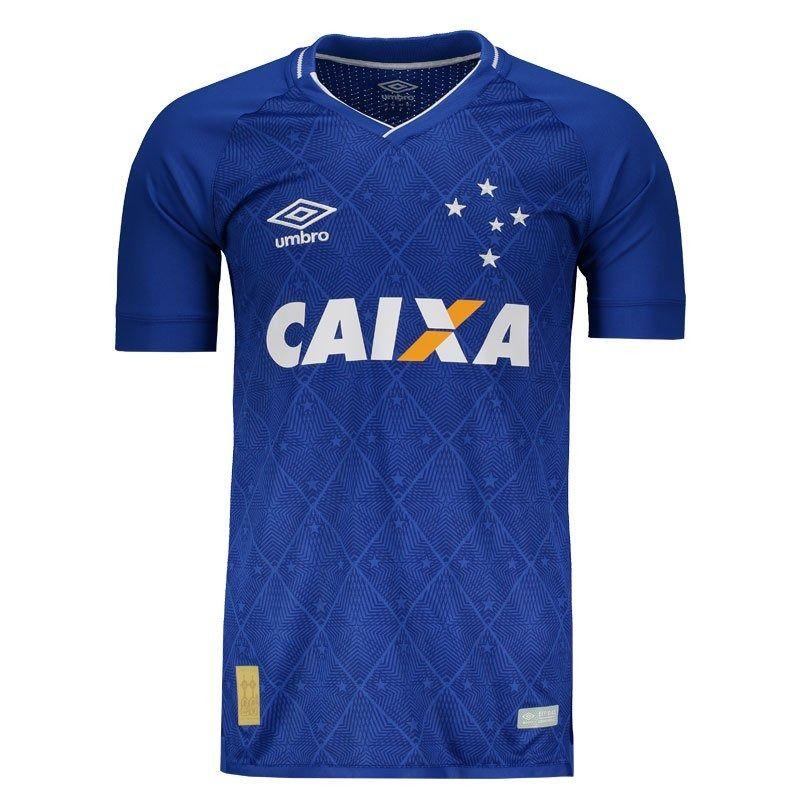 Camisa Cruzeiro 2017 Nº 10 com patrocinador Primeira Linha