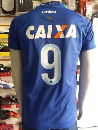 Camisa Cruzeiro 2017 Nº 9 com patrocinador Primeira Linha