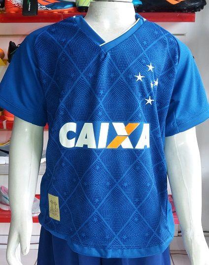 Camisa Cruzeiro Infantil 2017/2018 Primeira Linha
