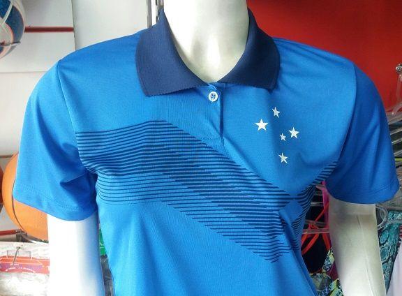 Camisa Cruzeiro Polo Feminina Primeira Linha