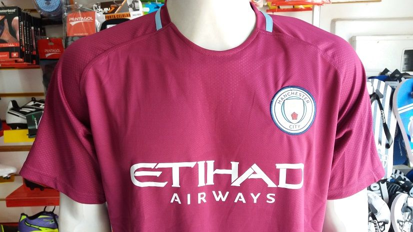Camisa Manchester City 2 2017/2018 Nº33 Gabriel Jesus Authentic