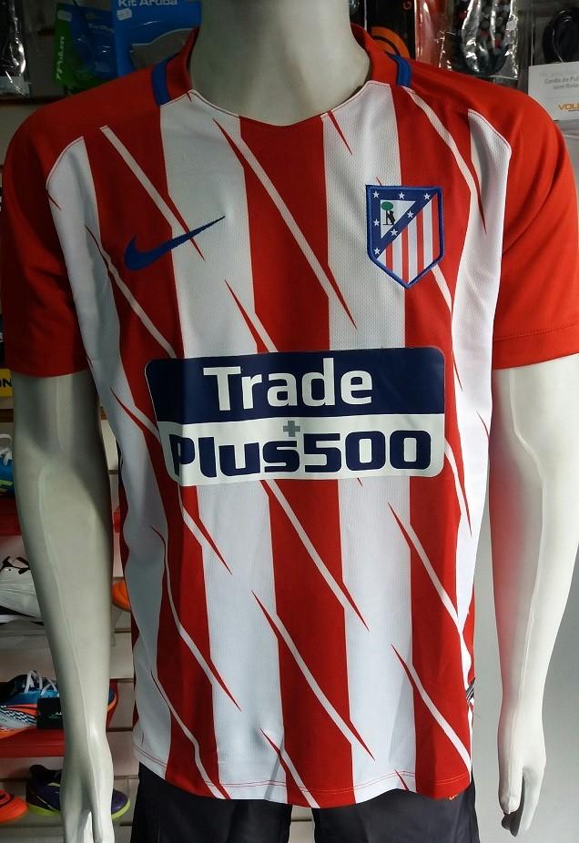 Camisa Atlético de Madrid 2017 Nº 7 Primeira Linha