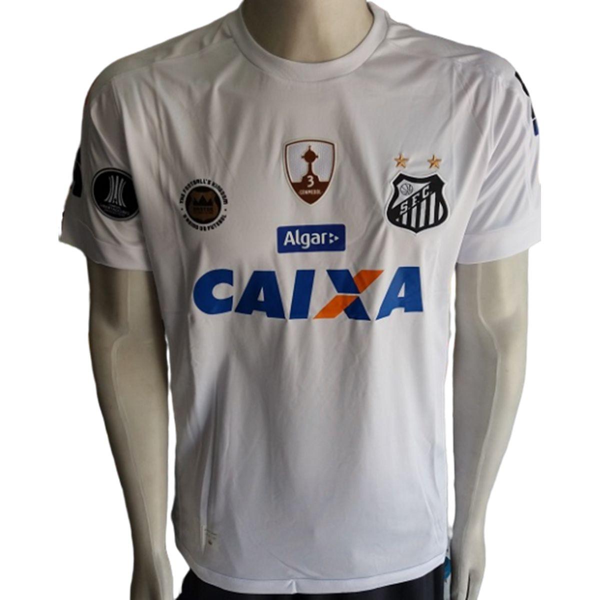 Camisa Santos 1 2017/2018 Libertadores S/Nº com Patch Commebol Authentic