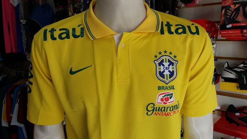 248054afe5818 Camisa Seleção Brasileira Polo Masculina Primeia Linha - Energia ...
