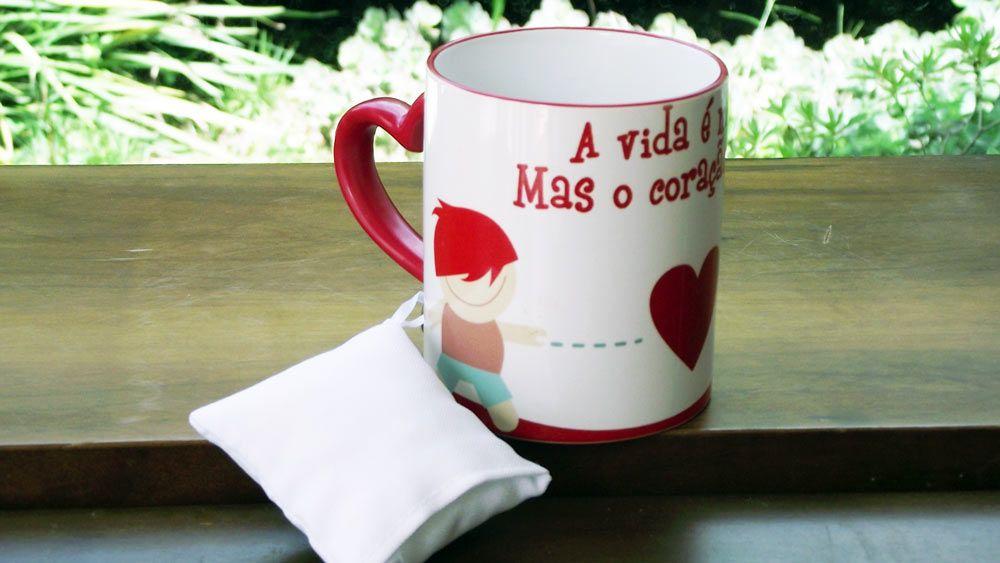 Caneca Porcelana Dia dos Namorados