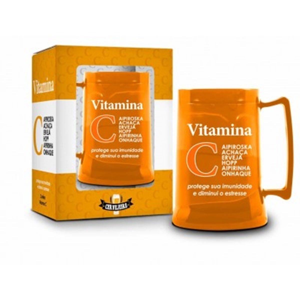 Caneca Gel 300ml Funny - Vitamina C