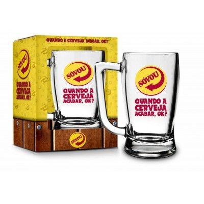 Caneca Vidro Taberna 340ml Sátiras Cerveja - So Vou