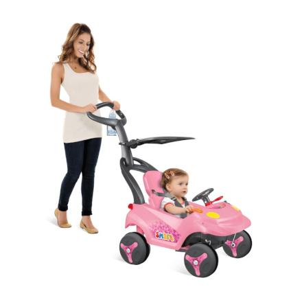 Carrinho Smart Baby Reclinável Rosa Bandeirante - 546