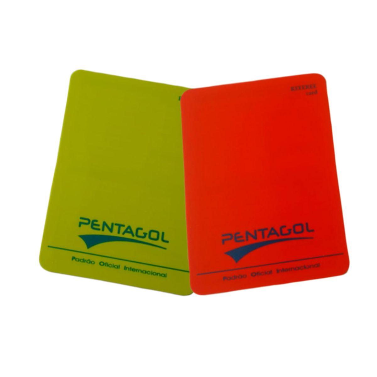Cartão de Arbitro Futebol Campo Pentagol Oficial