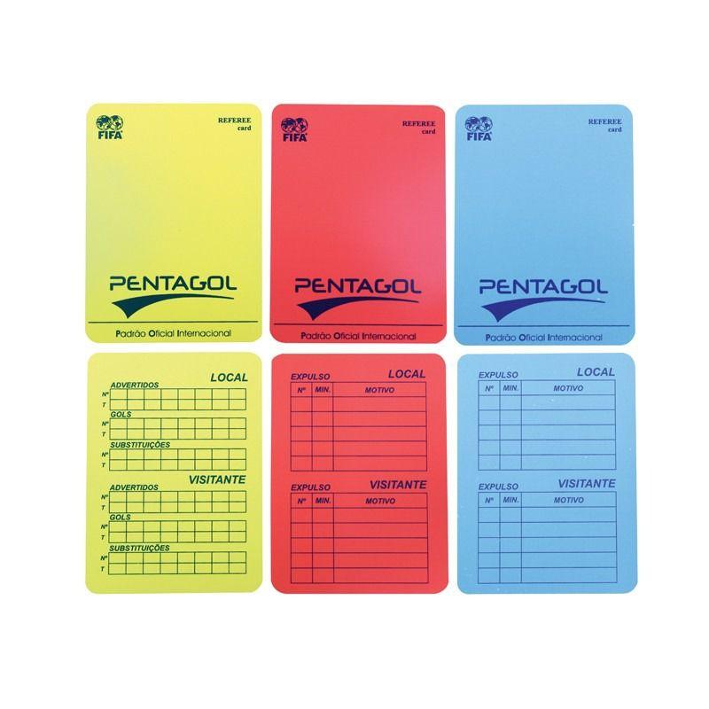 Cartão de Arbitro Futsal Pentagol Oficial