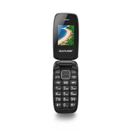 Celular Flip Up Dual Chip MP3 Dourado Multilaser - P9044