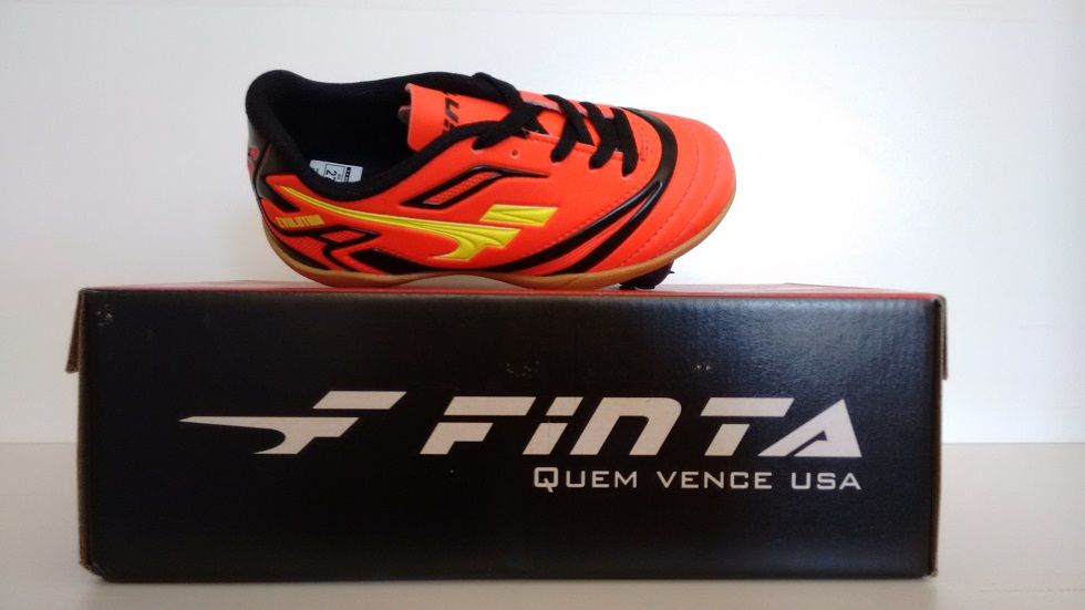 Chuteira Futsal Finta Infantil Evolution Pvc